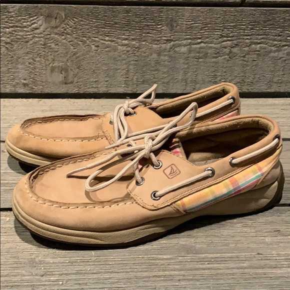 2 Sperry Intrepid Boat Shoes Youth Girl Slip-on Shoes Gold US Size 1